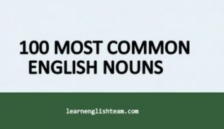 100 Most Common English Nouns