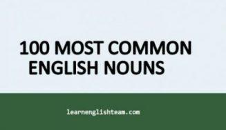100 Most Common English Nouns