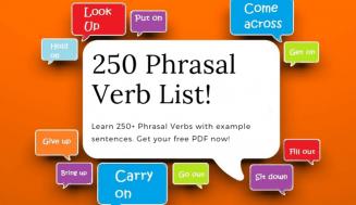 250 Phrasal Verbs (Free PDF)