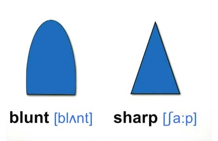 blunt sharp