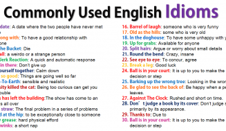 Commonly Used English Idioms (FREE PDF)