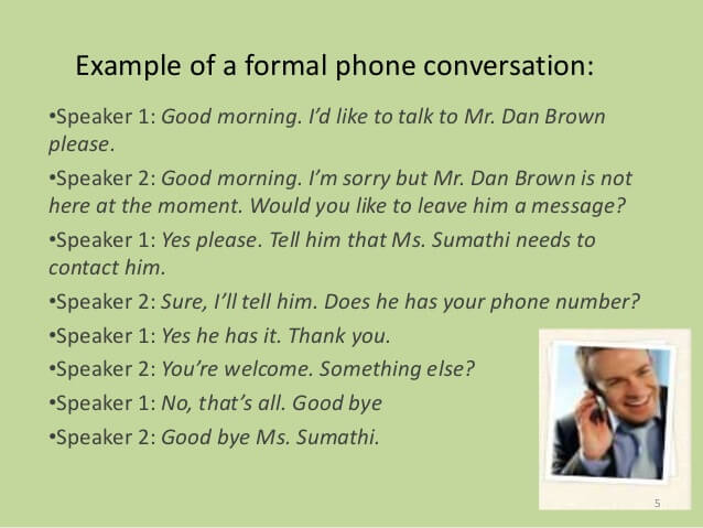 Conversation: Telephone Dialogues